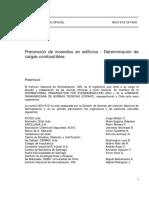NCh 1916-1999 Prevención de Incendios en Edificios - Determinación de Cargas Combustibles
