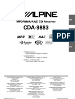 Alpine CDA-9883 Owner's Manual
