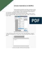 Como editar fórmulas matemáticas no BrOffice Writer