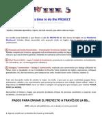 Requisitos y Pasos Para Presentar El Proyecto