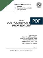 ensayo de las propiedades de los polimeros realizado en gmail