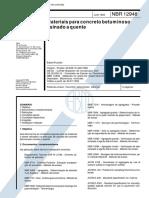 NBR 12948 1993 - Materiais para concreto betuminoso usinado a quente - Especificação
