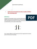 liés. (crossing over) Définition _ Laboratoire de biologie_module de génétique Dr BESSAOUDI.K Année 2015