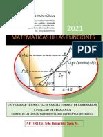 Módulo de Matemáticas III Las Funciones