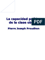 La capacidad politica de la clase obrera (P.J Proudhon)