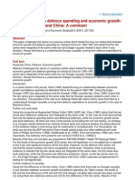 Causality between defence spending and economic growth- THe case of mainland China- A comment