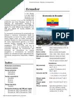 Economía de Ecuador - Wikipedia, la enciclopedia libre