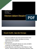 KOMUNIKASI GRAFIS - 03 ELEMEN DALAM DESAIN GRAFIS V2