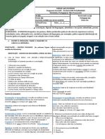 SEM RESPOSTAS - LÍNGUA PORTUGUESA- 2ª QUINZENA DE AGOSTO - 7M01