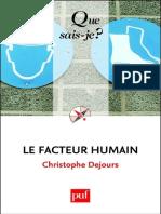Le Facteur Humain - Christophe Dejours