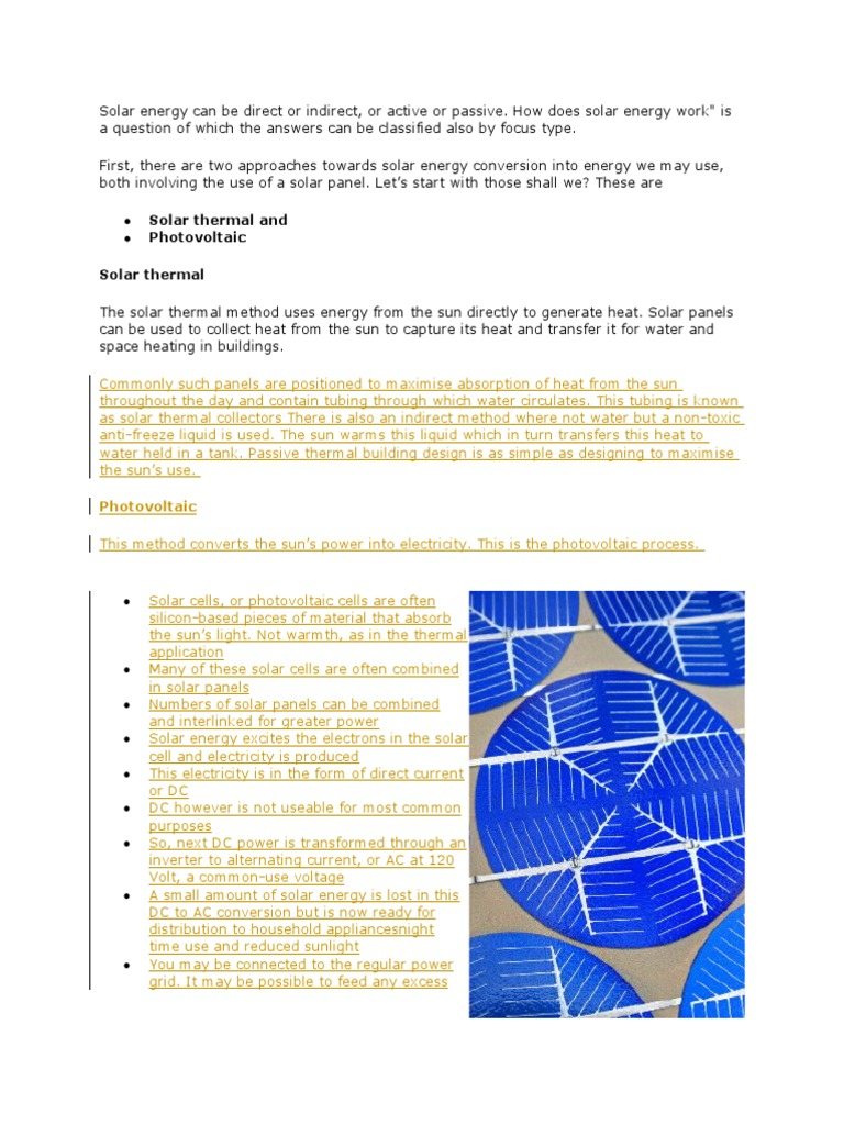 Solar Energy Water Heating How Panels Work Diagram Together With Cell Panel