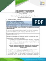 Guía de actividades y rúbrica de evaluación - Unidad 1- Fase 1 - Reconocimiento del curso