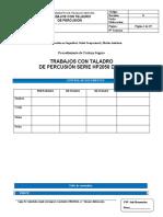 Procedimiento Pts Trabajos Con Taladro de Percusion