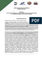 3-Proyecto de Ley Financiamiento Transporte y Ambiente