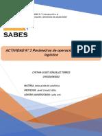ACTIVIDAD 2 Parámetros de Operación de Un Sistema Logístico