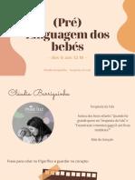 Desenvolvimento da (pré)linguagem_0 aos 12M_TF Cláudia Barriguinha