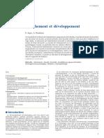 Attachement et développement