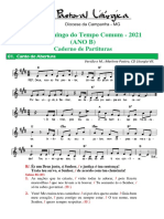 partituras tempo comum 23o. dom.  ano b 05-09-2021