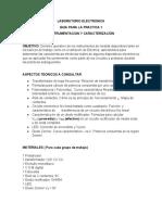 Práctica 1, Instrumentación