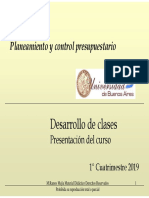 Control y planeamiento presupuestario - Clase 01