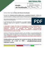 Comunicado-Banco de Fichas de Fiscalização