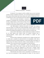 Relatório da Reunião do Grupo de Estudos Coram Deo 10-10-20