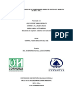 Estudio Del Impacto Sonoro de La Zona Rosa Del Barrio La Toma Del Municipio de Neiva