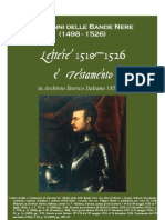Giovanni Delle Bande Nere. Letters 1510-1526 and His Last Will