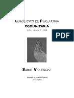 Cuadernos de psiquiatría comunitaria (Vol. 4, N° 1, 2004). Sobre violencias