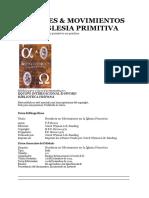 HOMBRES Y MOVIMIENTOS DE LA IGLESIA PRIMITIVA.