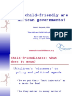 ACERWC 1st CSO Forum Child Friendliness Presentation