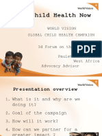 ACERWC 3rd CSO Forum Child Health Now Panel presentation