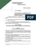 Lei 308 2003 Novo Código Tributário e de Rendas Teixeira de Freitas (2)