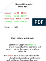 Settlement  Geography Unit 1