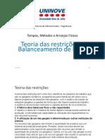 Aula 7 - Teoria das Restrições e Balanceamento