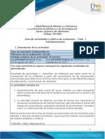 Guia de actividades y Rúbrica de evaluación -Unidad 1- Fase 1- Fundamentación