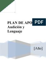 Plan de Apoyo Audición y Lenguaje