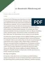Bénédicte Savoy_ Kunstraub_ Plünderung mit Mehrwert