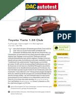 Toyota Yaris 1 33 Club
