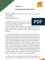 PDCVR Buttet - discours 110401