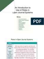 OJS User Roles