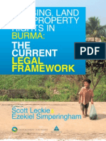 Key source - HOUSING, LAND AND PROPERTY RIGHTS IN BURMA THE CURRENT LEGAL FRAMEWORK