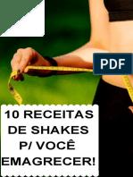10 receitas de shakes