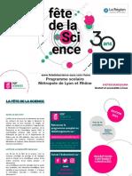 Programme Scolaire Fête de La Science - Rhône 2021
