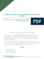 Anatomie Épaule - Tendons, Muscles Et Articulations _ Pr Eric Roulot