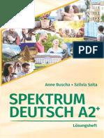 Spektrum Deutsch A2plus Loesungsheft
