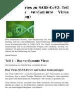 Bertling & Rohmer - wissenswertes zu SARS-COV2 1 - das verdammte Virus