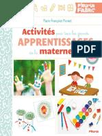 Activites pour tous les grands apprentissages de la maternelle - Marie-Francoise Mornet