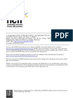 a longitudinal study of marital problems and subsequent divorce