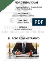 Presentación Interactiva Sobre las Características del Acto Administrativo